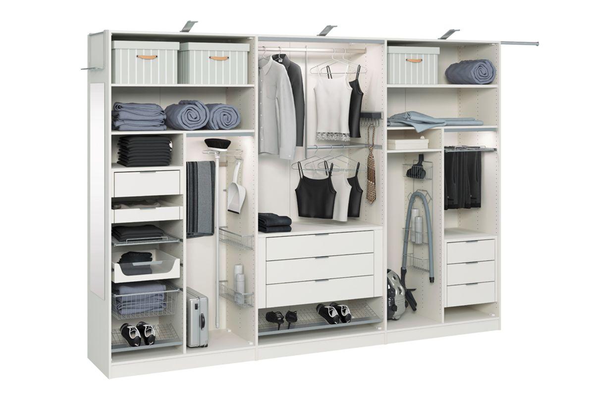 Внутренне наполнение шкафов-купе, кладовых, гардеробных на з.