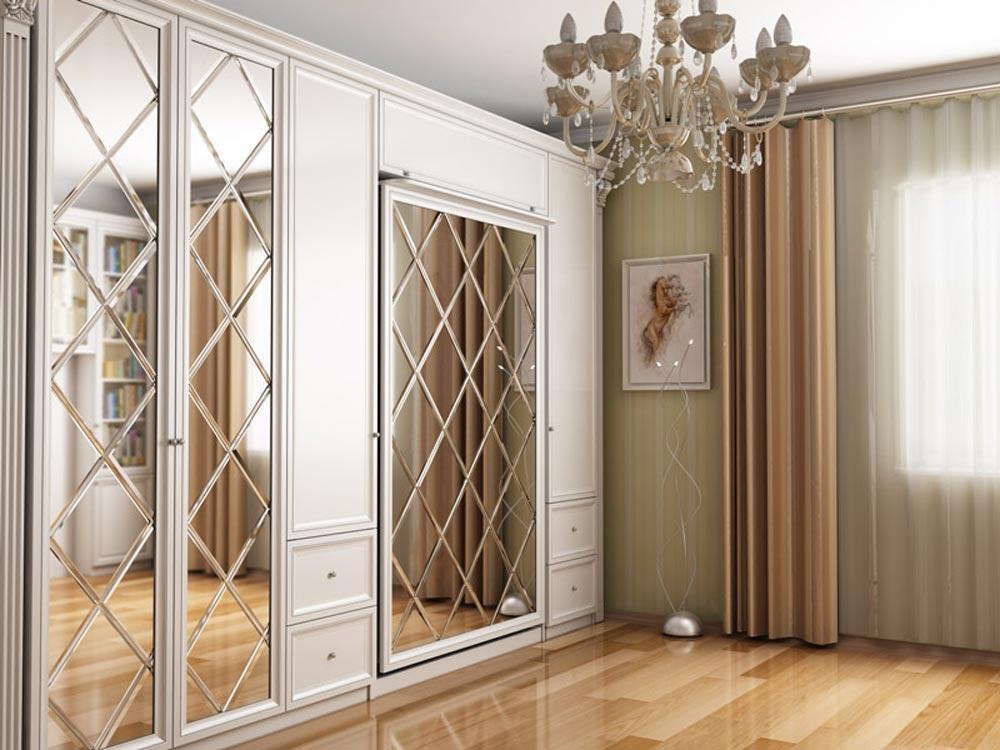 Шкаф Кровать В Интерьере Гостиной Москва