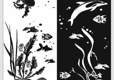 Пескоструйная обработка - Животные, рыбы